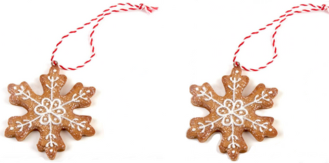 Hanging, Gingerbread Snowflakes, Tree Decorations