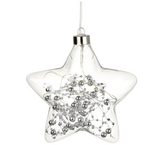 Glass Hanging LED Silver Star - Unlit (Heaven Sends)