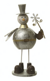 Gold, metal standing Snowman, Heaven Sends