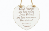 Good Friends, Great Friends, True Friends shabby chic heart