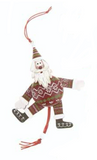 Wooden Santa & Snowman Jumping Jack Decorations