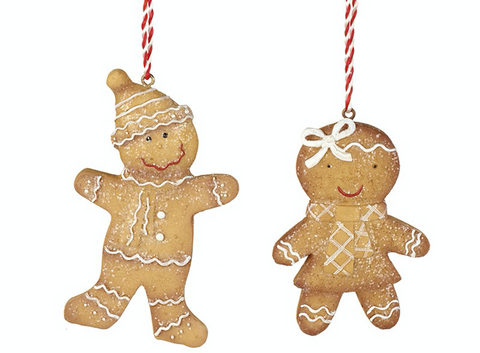 Hanging, Mr and Mrs Gingerbread, tree decoration