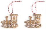 Hanging, Gingerbread Trains, Tree Decorations