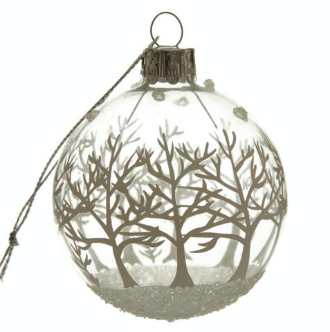 Hanging, Glass White Tree Bauble