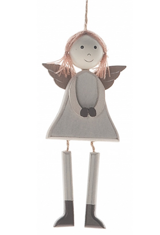 Shabby Chic, Wooden Hanging Angel