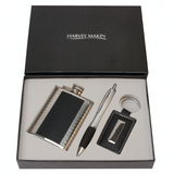Harvey Makin, Hip Flask, Pen and Key ring, gift set