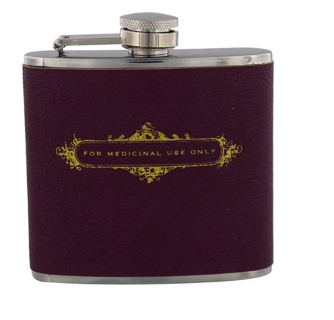 Hip Flask - For Medicinal Use Only