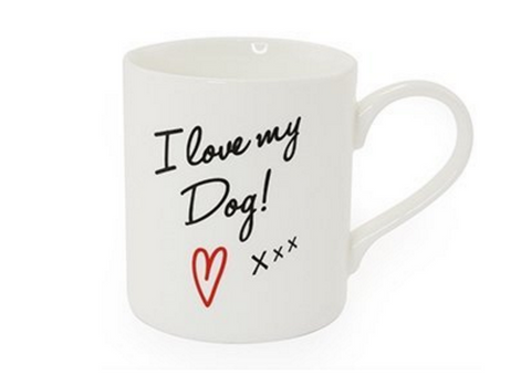 I Love My Dog Fine China Mug