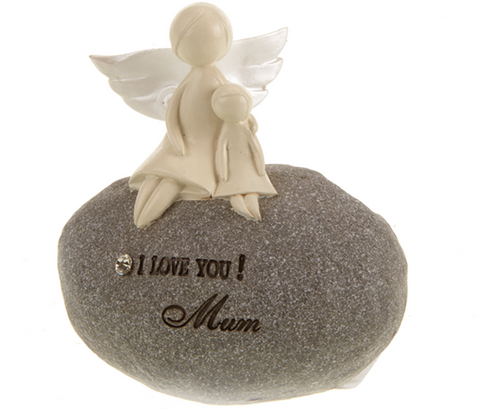 I Love You Mum, angel stone