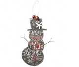 Hanging Snowman Sign - It's the most wonderful time of the year by Heaven Sends