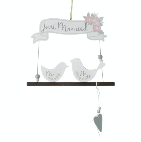 Just Married, Mr and Mrs Birds, Sign