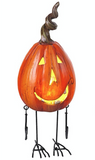LED Metal and Resin Pumpkin (Long and Thin)