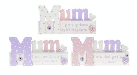 Love Mum, message block (3 options to choose from), shabby chic