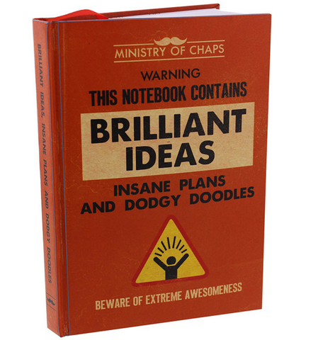 "Ministry of Chaps, ""Brilliant Ideas"", notebook"