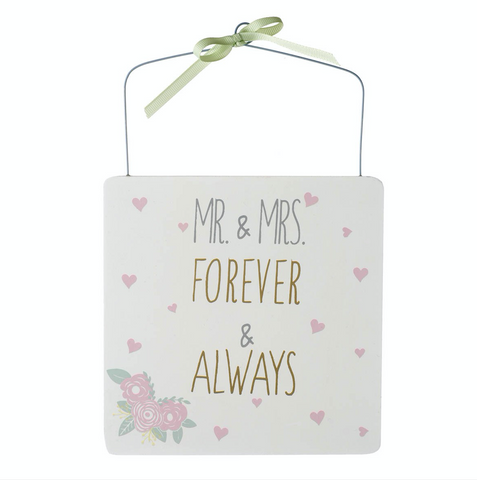 Mr and Mrs, Forever and Always, Hanging Sign