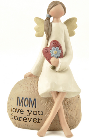 "Mum Angel Decoration ""Mum love you forever"""