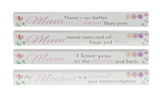 Mum, Mother Long Rectangular Floral Table Plaques