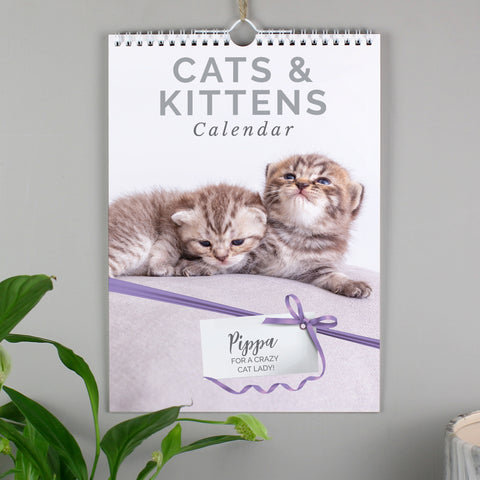 Personalised A4 Cats & Kittens Calendar