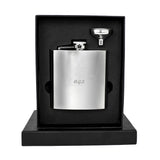 Personalised Hip Flask, Stainless Steel Initials