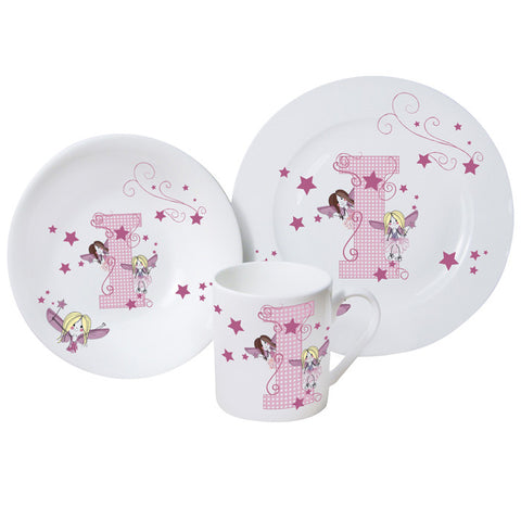 Personalised Breakfast set, Fairy Letter, Bone China