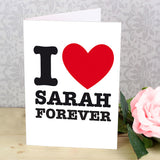 personalised card, I heart