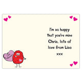 Personalised monster heart card