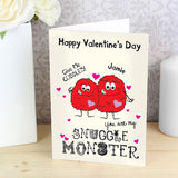Personalised card snuggle monster