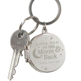 Personalised key ring, to the moon and back