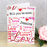 Personalised lots of love card
