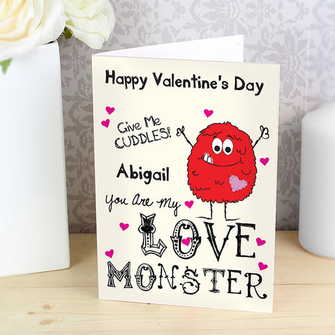 Personalised Love Monster card