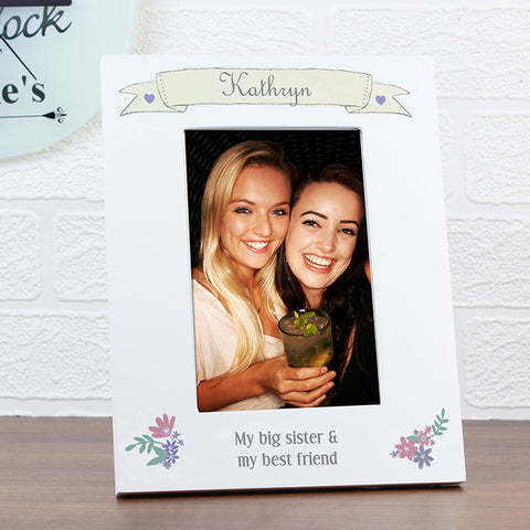 Personalised photo frame, Garden bloom