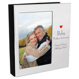 Personalised ruby wedding anniversary frame album