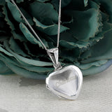 Personalised sterling silver heart locket