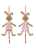 Pink Hanging Bunnies (Jumping Jacks)