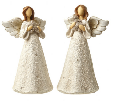 pair of large polyresin angel decorations - Angel Decorations