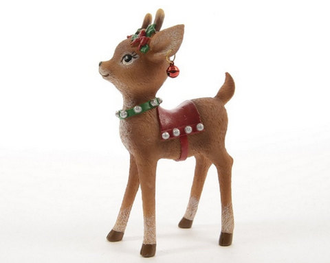 Polyresin, Standing Baby Reindeer, Ornament