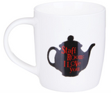 Reverse of Caffeine Fuelled Teacher, bone china mug