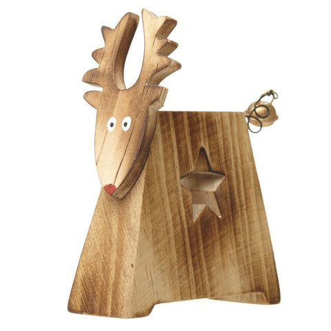 Heaven Sends, Wooden Standing Reindeer with star cut out