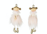 Small Pink Hanging Fairy Angels - Set of 2