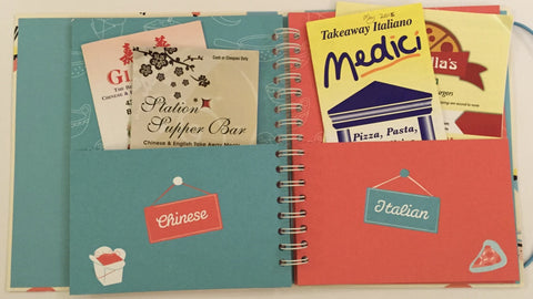 Takeaway menu organiser (pockets), Busy B