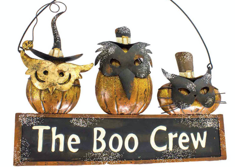 The Boo Crew, Metal Pumpkin Sign