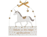 Believe in the magic of Christmas, Unicorn Hanger