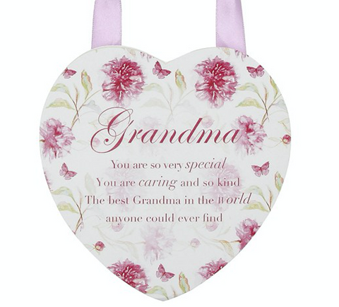 Vintage Lane Floral Hanging Plaque, Grandma, close up