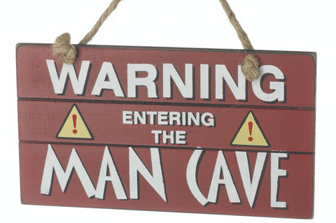 Warning Entering the Man Cave, wooden plaque
