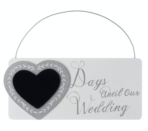 Wedding Countdown Chalkboard (Days until our Wedding)