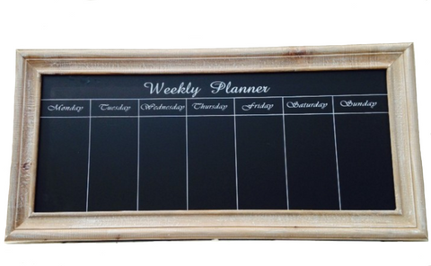 Weekly Planner, Chalkboard (Natural)