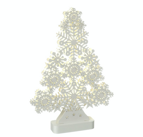 White, LED, Snowflake Tree by Heaven Sends
