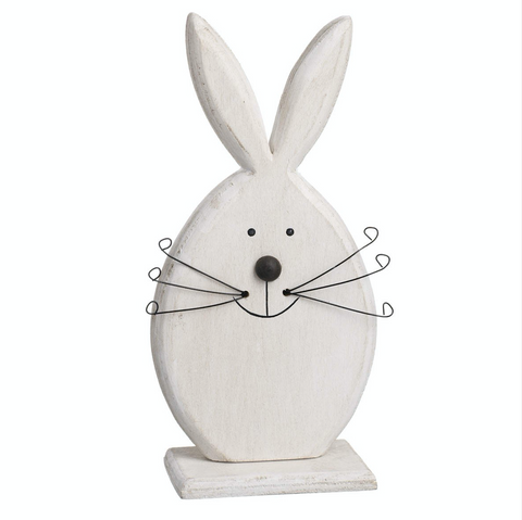 White Wooden Rabbit by Heaven Sends