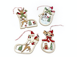 Wooden Cut Out Christmas Tree Decorations