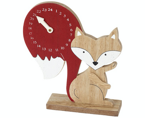 Wooden Fox, Countdown to Christmas